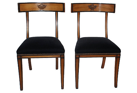 Empire-Style Chairs, Set of 2