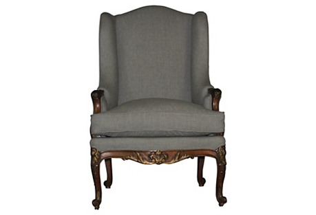 Louis XV-Style Accent Chair