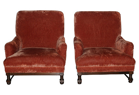 Provençal-Style Club Chairs, Pair