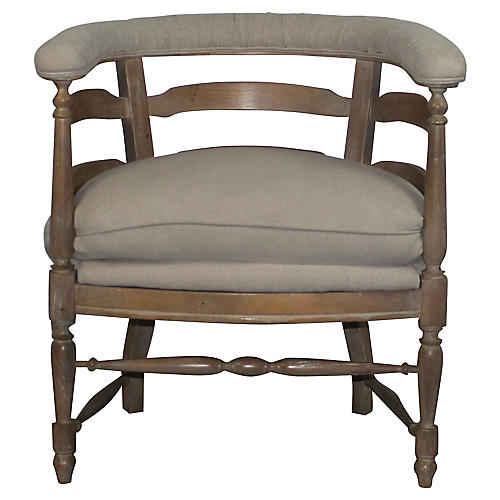 Country Barrel Chair