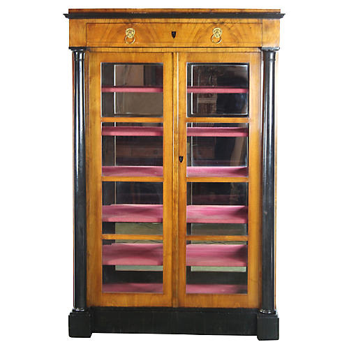 19th-C. Biedermeier Bookcase