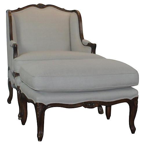 Chair & Ottoman, S/2