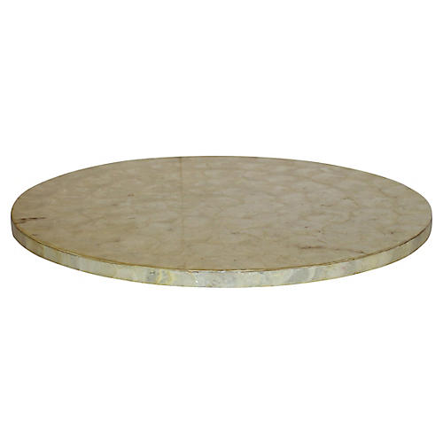 Mother-of-Pearl Lazy Susan