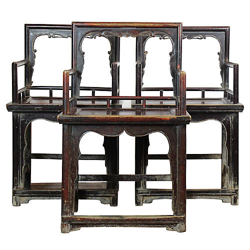 Chinese Armchairs, S/3