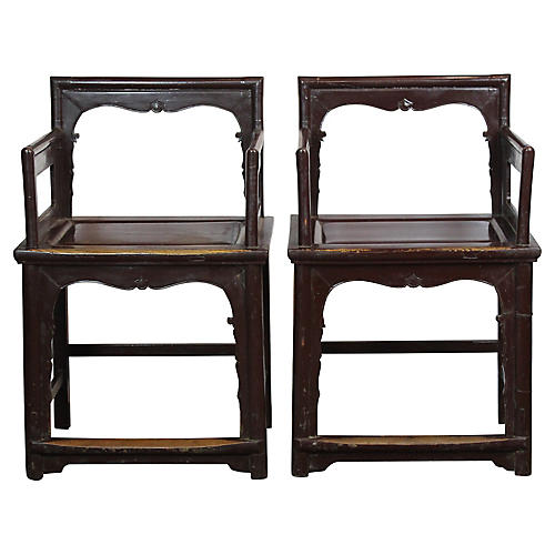 Chinese Armchairs, S/2