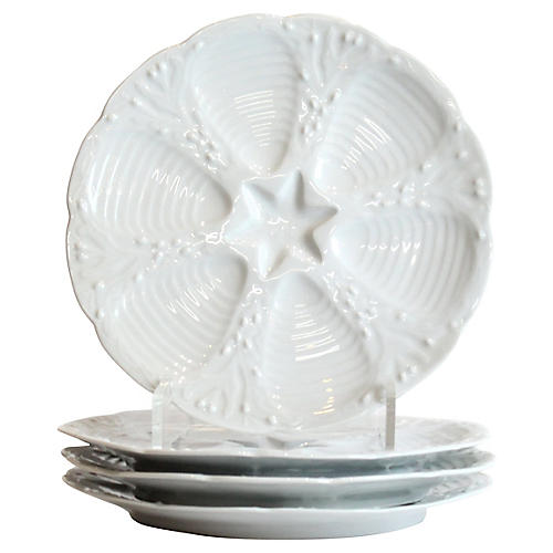 Oyster Plates, S/4