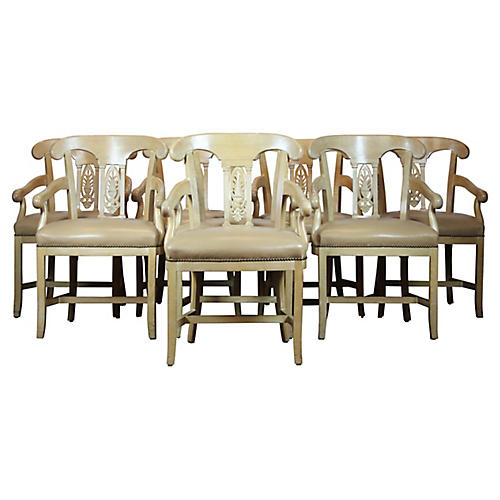 Acanthus-Back Dining Chairs S/8