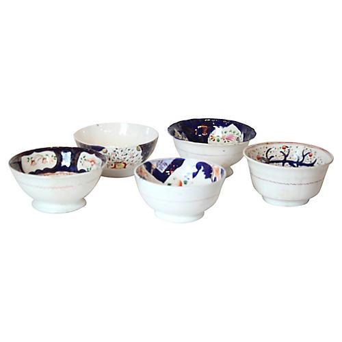 Ironstone Bowls, S/5