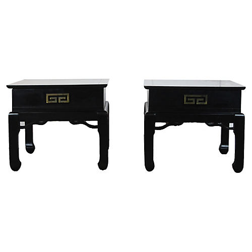 Pair of Asian Style End Tables