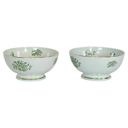Porcelain Bowls, Pair