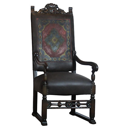Spanish Style Leather Chair