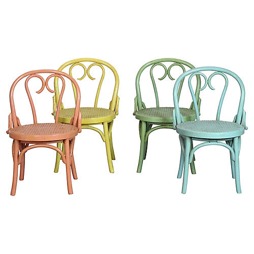 Cane Chairs, S/4