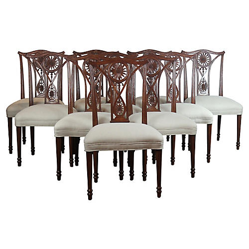 Dining Chairs, S/10