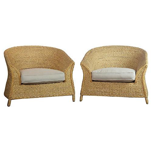 Pair of Rush Chairs