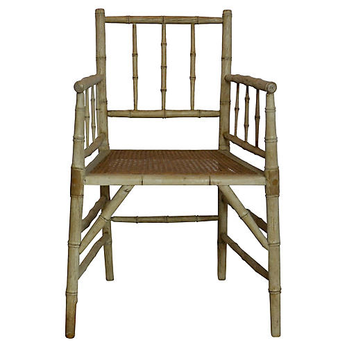 Faux-Bamboo Accent Chair