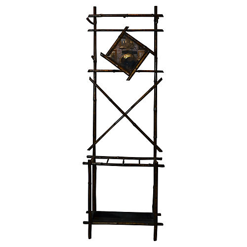 19th-C. Bamboo Coat Rack