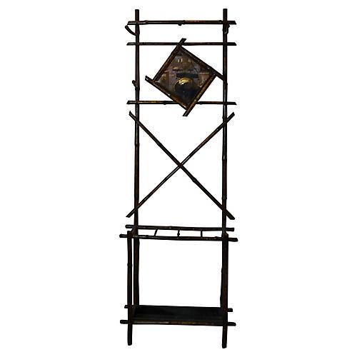 19th-C. Bamboo Coat Rack