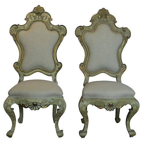 Italian Side Chairs, S/2