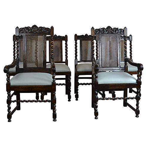 English Dining Chairs S/6