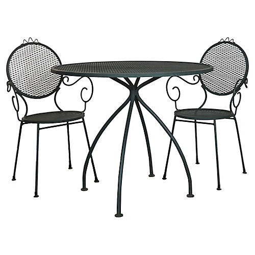 Bistro Table & Chairs, 3 Pcs