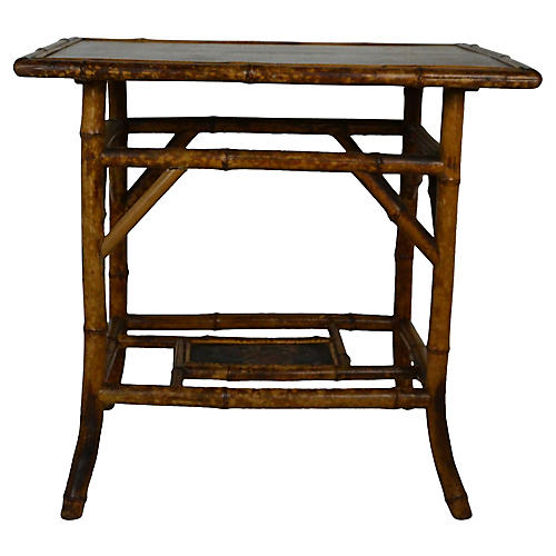 19th-C Bamboo Accent Table