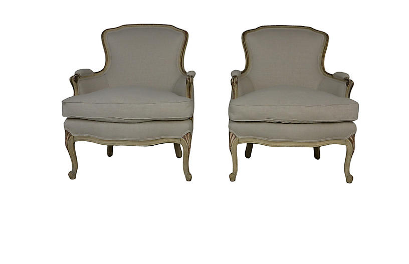 Louis XV Style Chairs S/2