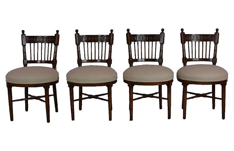Round Seat Chairs S/4