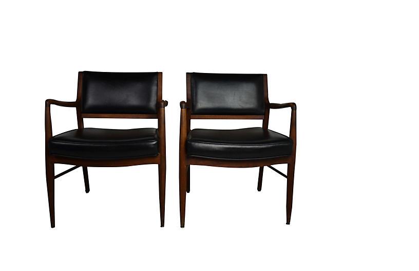Mid-Century Armchairs S/2