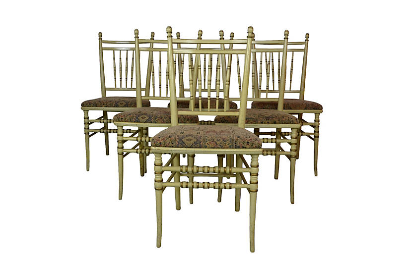 Spindle Back Chairs S/6