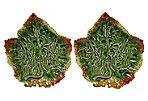 Grape Leaf  Majolica  Dish, S/2