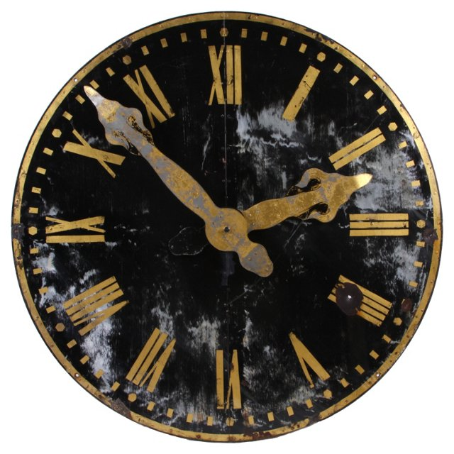 19th-C. French Clock,  50""