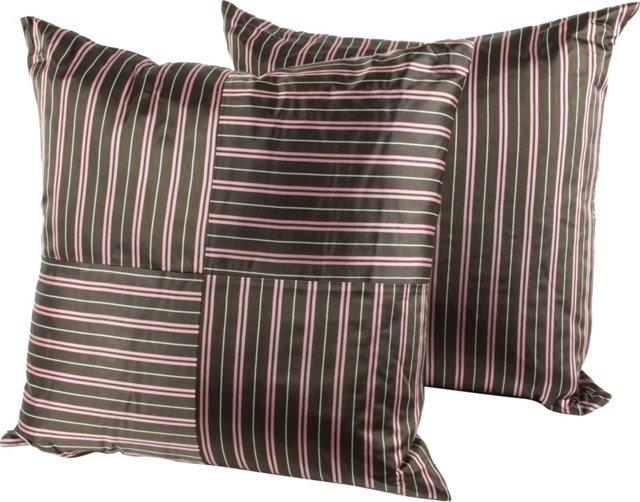 Necktie Pillows, Pair