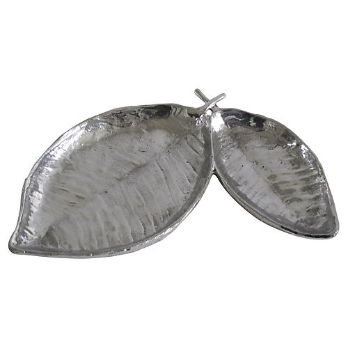 Silverplate Leaf Catchall