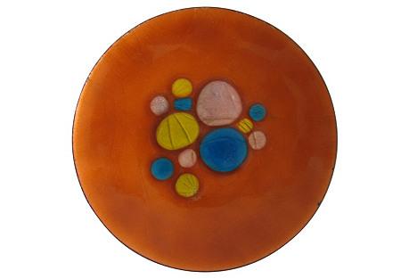 Midcentury Enamel Plate