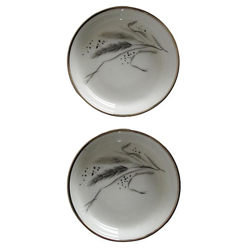 Easterling Ring Dishes, Pair