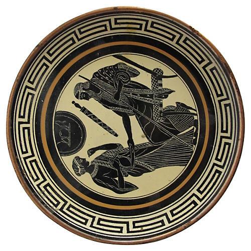 Greek Enamel Plate