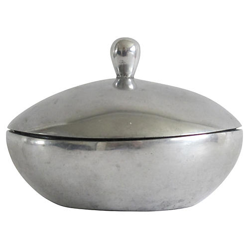 Midcentury Silver Dish w/ Lid