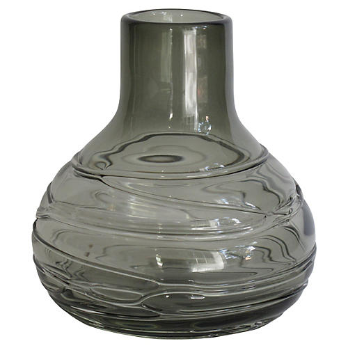 Smoky Glass Vase