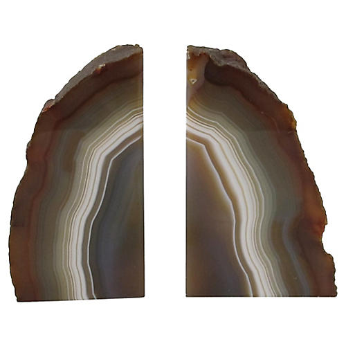 Geode Slice Bookends