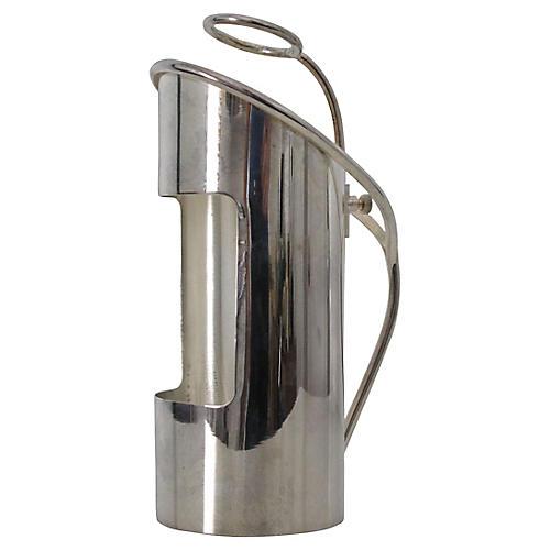 Silver-Plate Wine Bottle Holder/Server