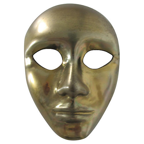 Decorative Brass Theater Mask