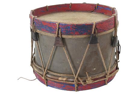 Antique 18th-C. Drum