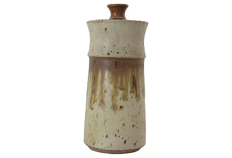 Ceramic Canister w/ Lid