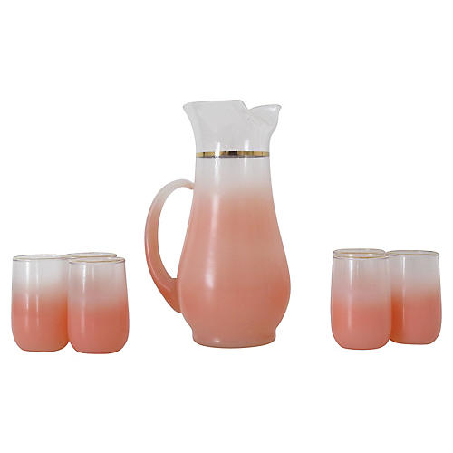 Pink Blendo Serving Set, 7 Pcs.