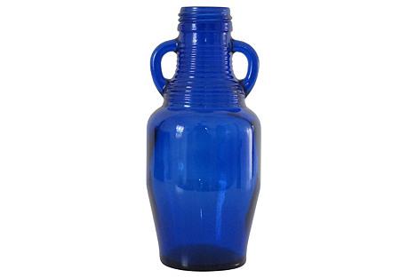 Cobalt Blue Bottle w/ Handles