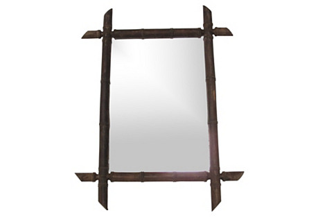 Black Forest Bamboo-Style Mirror