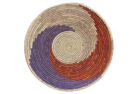 Purple & Red Swirl Basket