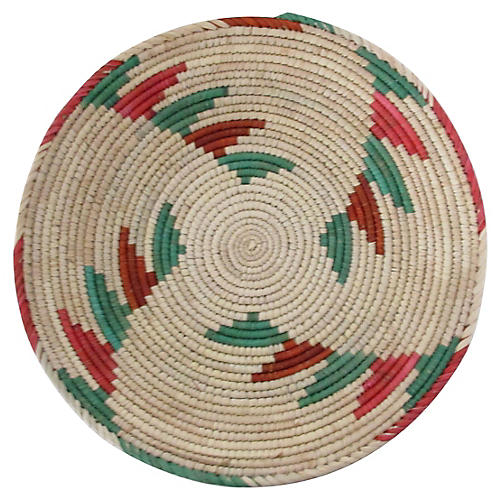 Red & Green Step Pattern Basket
