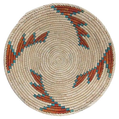 Turquoise Edge Step Pattern Basket