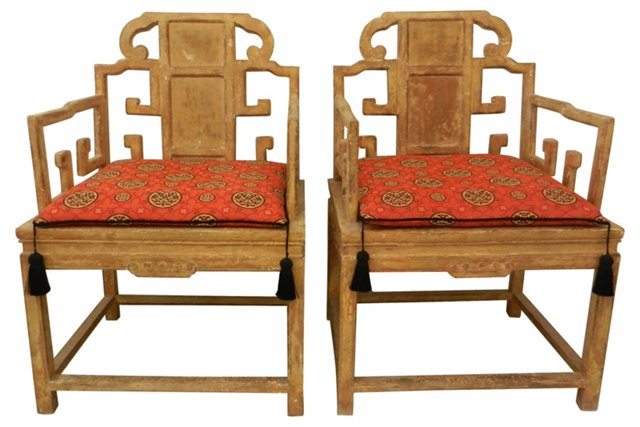 Asian Chairs, Pair